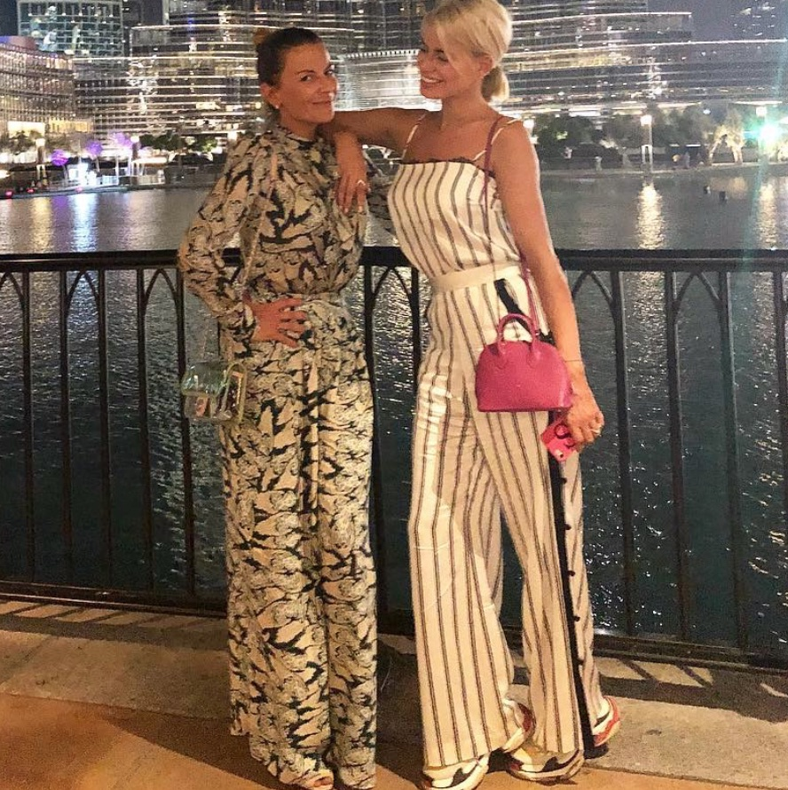 Caroline Stanbury's Striped Outfit