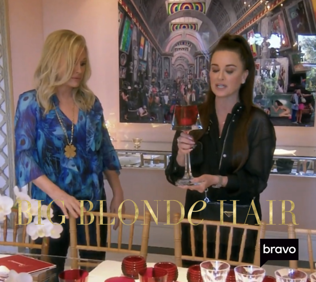 Kathy Hilton's Red Candle Stick with Kyle Richards